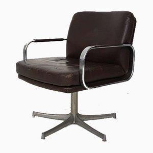 Sedia girevole in pelle di Walter Knoll/Wilhelm Knoll, anni '70