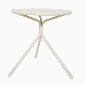 White Metal Side Table, 1960s