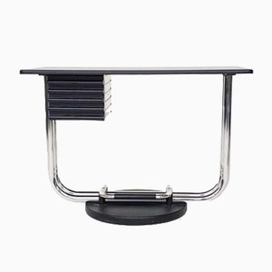 Italian Chrome Swivel Desk, 1980s