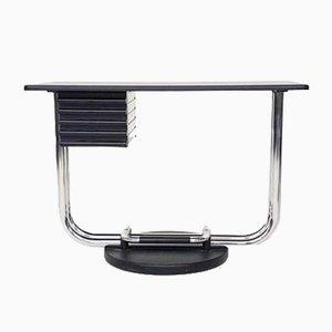 Modularer italienischer Schreibtisch aus Chrom, 1980er