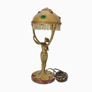 French Art Nouveau Table Lamp by Alliot