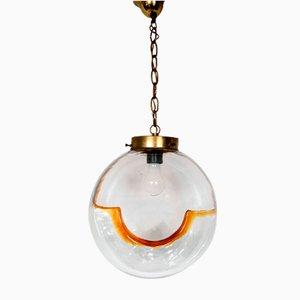 Lampada da soffitto vintage in vetro di Murano di Toni Zuccheri