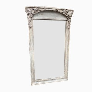 Antique French Carved Painted Colonial Mirror