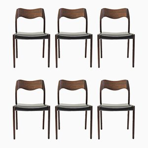 Teak Dining Chairs by Niels Otto Møller, 1960s, Set of 6