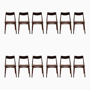 Boomerang Dining Chairs by Alfred Christensen for Slagelse Møbelværk, 1950s, Set of 12