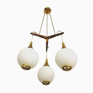 Italian Ceiling Lamp from Stilnovo, 1950s