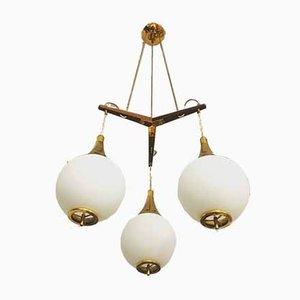 Italian Ceiling Lamp from Stilnovo, 1950s