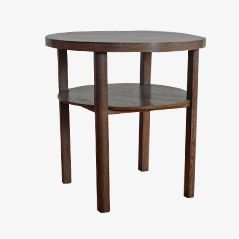 Two-tiered Round Art Deco Side Table