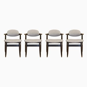 Cowhorn Dining Chairs by Tijsseling for Hulmefa Nieuwe Pekela, 1960s, Set of 4
