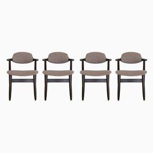 Cowhorn Esszimmerstühle von Tijsseling für Hulmefa Nieuwe Pekela, 1960er, 4er Set