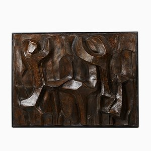 Danish Figures Ceramic Relief by Pipin Henderson, 1990s