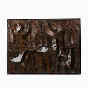 Dekoratives dänisches Relief aus Keramik von Pipin Henderson, 1990er