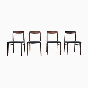 Danish Rosewood Dining Chairs, 1960s, Set of 4