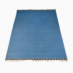 Blauer schwedischer Teppich von Rakel Callander, 1950er