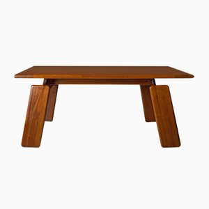 Walnut Dining Table by Mario Marenco for Mobilgirgi, 1970s