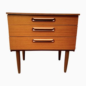 Small Mid-Century Teak and Teak Veneer Dresser from Schreiber