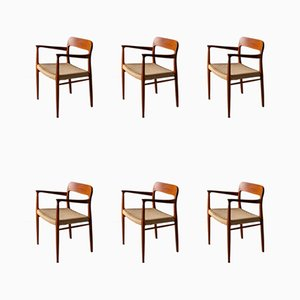 Model 75 Teak Dining Chairs by Niels Otto Møller for J.L. Møllers, 1960s, Set of 6
