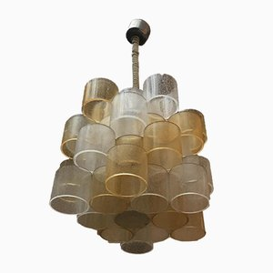 Italian Murano Glass Bi Colored Ceiling Lamp from Poliarte, 1970s