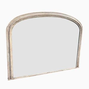 Antique French Carved Wood & Gesso Arched Mirror