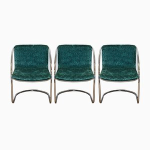 Dining Chairs by Gianni Offredi for Saporiti Italia, 1970s, Set of 3