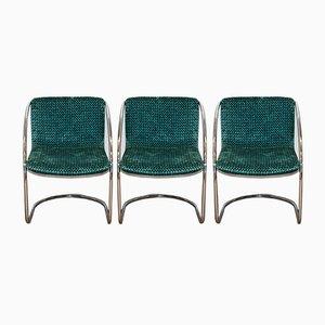 Esszimmerstühle von Gianni Offredi für Saporiti Italia, 1970er, 3er Set