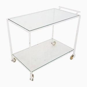 Carrito de metal y vidrio, años 50