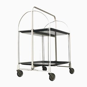 Mid-Century Foldable Breakfast Serving Cart Trolley