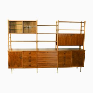 Walnut Wall Unit by William Watting for Fristho, 1960s