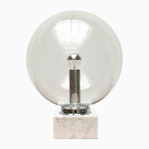 Mid-Century 3480 Tischlampe aus Glas & Marmor von Erco, 1960er