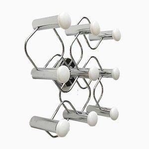 Lámpara de techo alemana Era Espacial vintage de Gaetano Sciolari para Leola, años 70