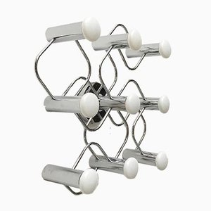 Vintage German Space Age Ceiling Lamp by Gaetano Sciolari for Leola, 1970s
