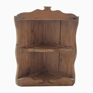 Antique Pine Corner Shelf Unit