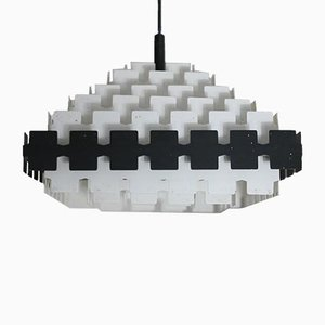 Lacquered Steel Ceiling Lamp from Doria Leuchten, 1970s