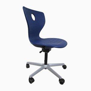 Danish Blue Plastic Swivel Chair by Verner Panton, 1960s
