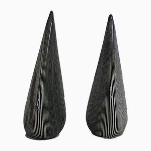 Große pyramidenförmige Lampen aus Muranoglas von Vetri, 1970er, 2er Set