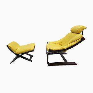 Schwedischer Kroken Sessel mit Gestell aus Palisander von Åke Fribytter für Nelo Möbel, 1970er