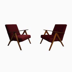 Velvet B310 Armchairs, 1960s, Set of 2