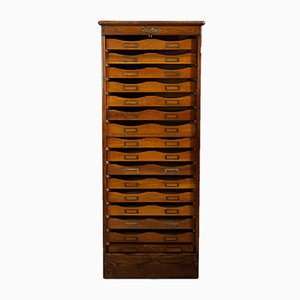 Large Antique Roll-Front Cabinet
