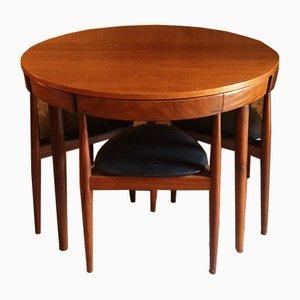Tavolo e sedie di Hans Olsen per Frem Røjle, anni '50, set di 5