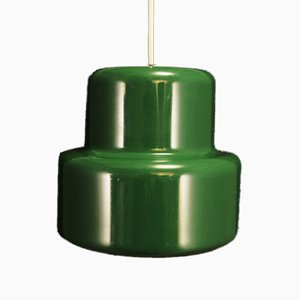 Danish Green Metal Ceiling Lamp by John Hammerborg for Fog & Morup