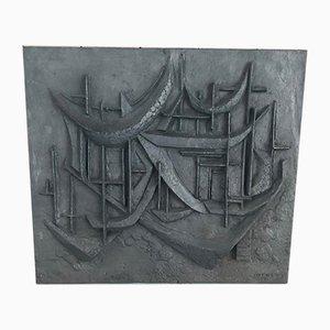 Mid-Century Cast Iron Plate by Meneau