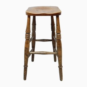 Antique Victorian Ash and Elm Bar Stool