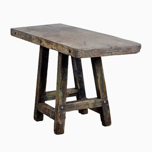 Industrial Wooden Work Table, 1950s