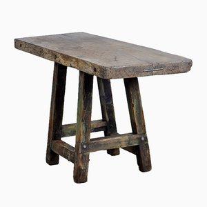 Mesa de trabajo industrial de madera, años 50