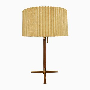 Tischlampe aus Teak & Messing von J. T. Kalmar für Kalmar, 1950er