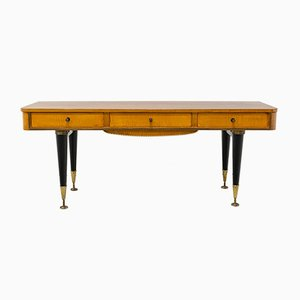 Small Italian Rosewood Console Table, 1950s