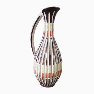 Grafische Keramikvase von Ilkra, 1960er