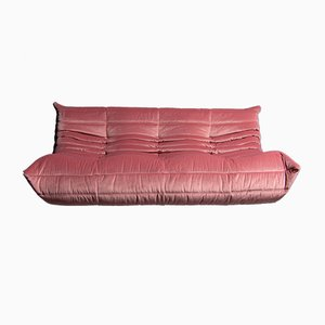 Vintage French Velvet Togo Sofa by Michel Ducaroy for Ligne Roset, 1970s