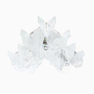 Lámparas de techo de cristal de hielo de Carlo Nason para Mazzega, años 60. Juego de 3