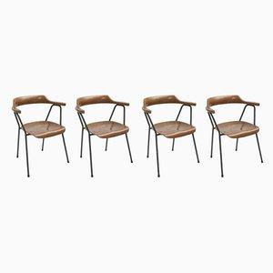 Vintage Modell 4455 Esszimmerstühle von Niko Kralj für Stol Kamnik, 4er Set